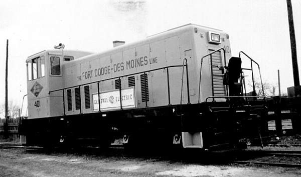 FDDM&S Engine 401 shortly after purchase from GE. Photo circa 1950's.