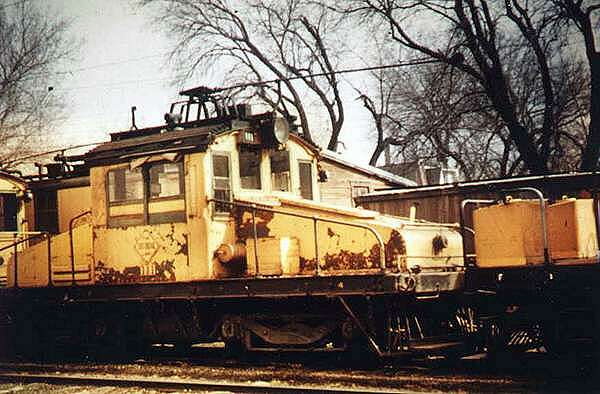 FDDM&S  electric freight engine 203 retired and parked in Boone service yard. Photo circa  1960s.