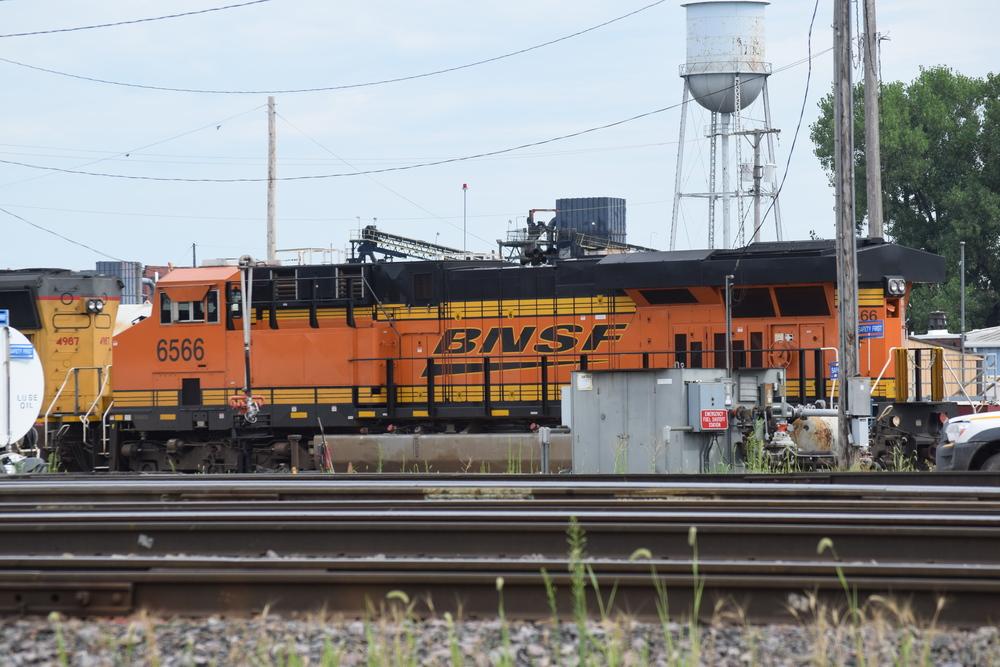 BNSF Engine 6566, parked at UP Shortline Yard, 2015.