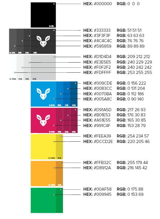 Website color palette