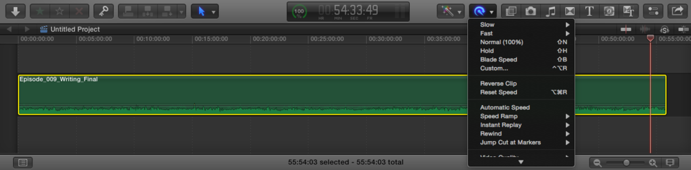 FCP X's Retiming function