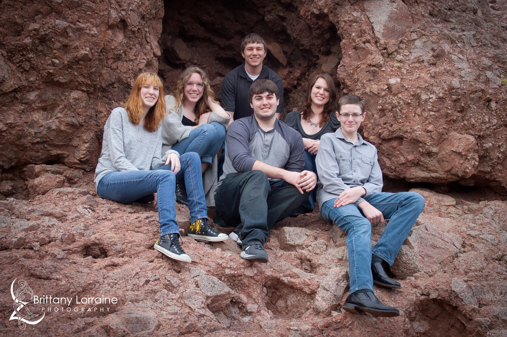 Family Portrait taken by Brittany Lorraine Photography at Papago Park
