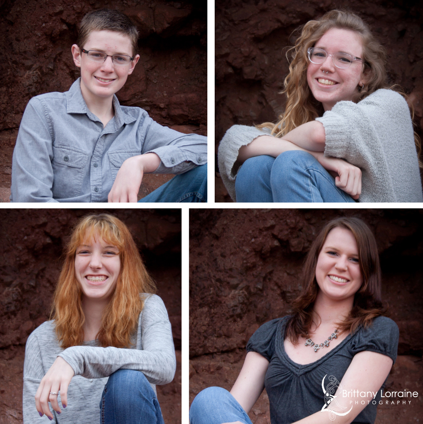 Kid portraits taken by Brittany Lorraine Photography at Papago Park
