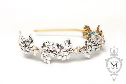 Olive headband — Justine M Couture Bridal Veils 2688ef43420