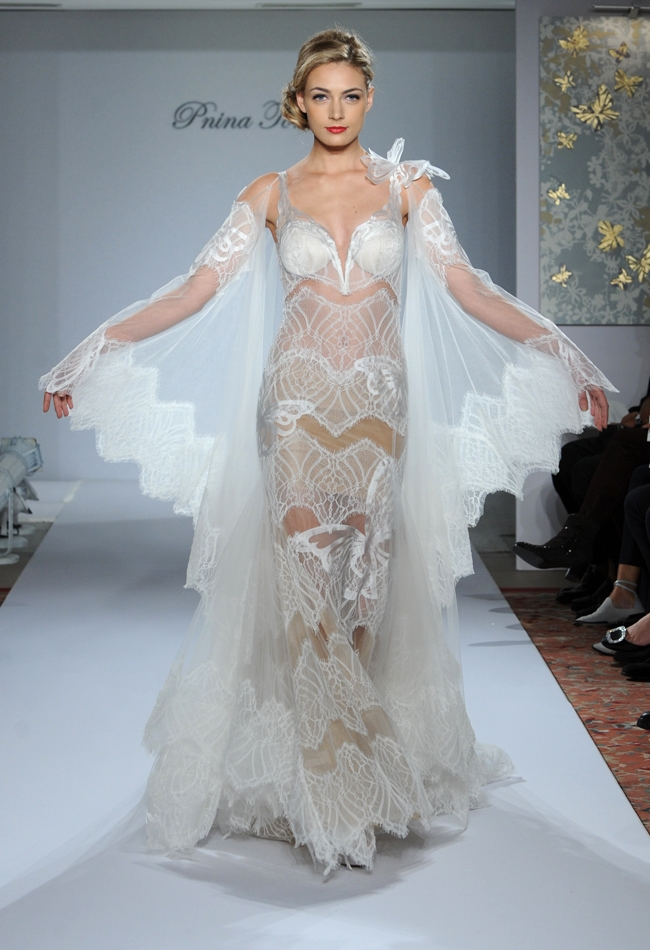Designer Pnina Tornei\'s dramatic and original gowns at Kleinfeld ...