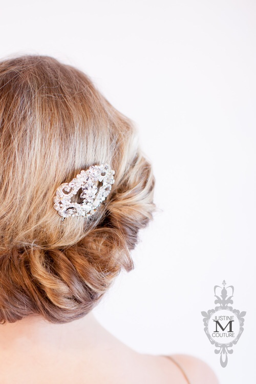 The Justine M Couture   Isabella  headpiece comb