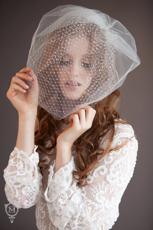The Versaille Veil from the Justine M Couture Cage Veil Collection