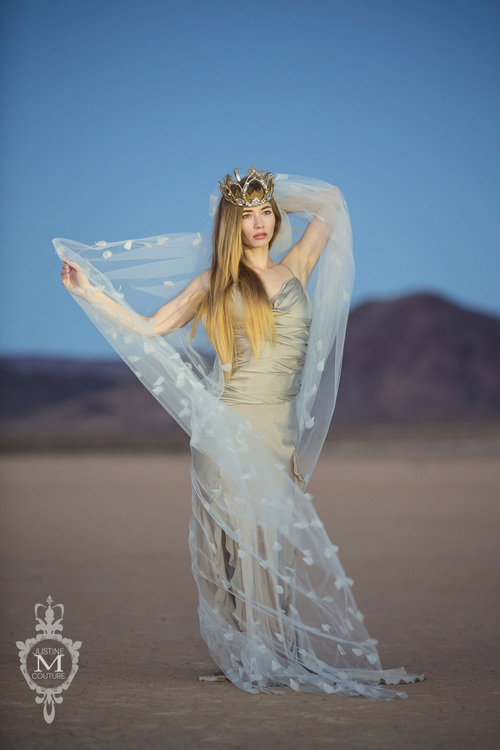 The Kyoto Veil from the Justine M Couture Avant Garde Collection