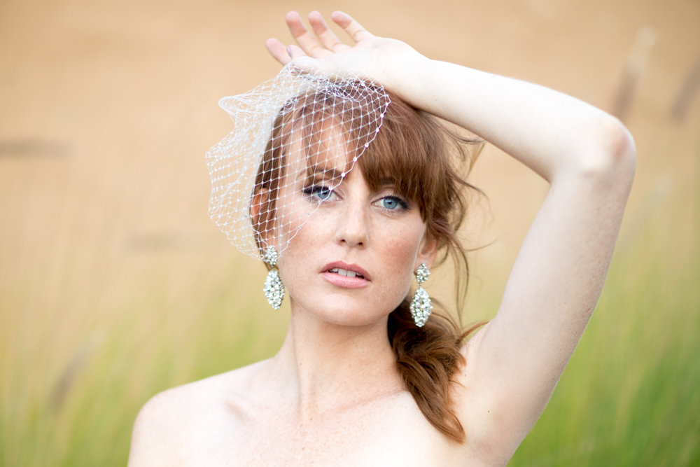 capella veil and fleur de lis earrings - horizontal image.jpg