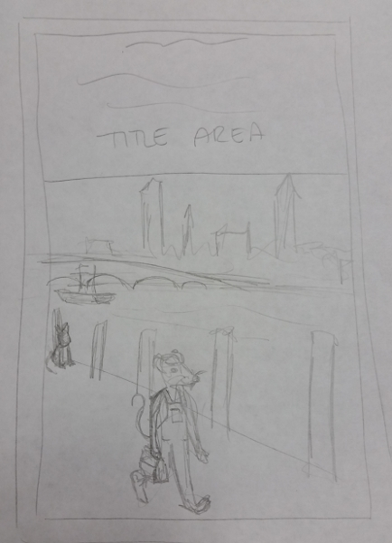 Boathouse Mouse Book 2, Concept Sketch 1