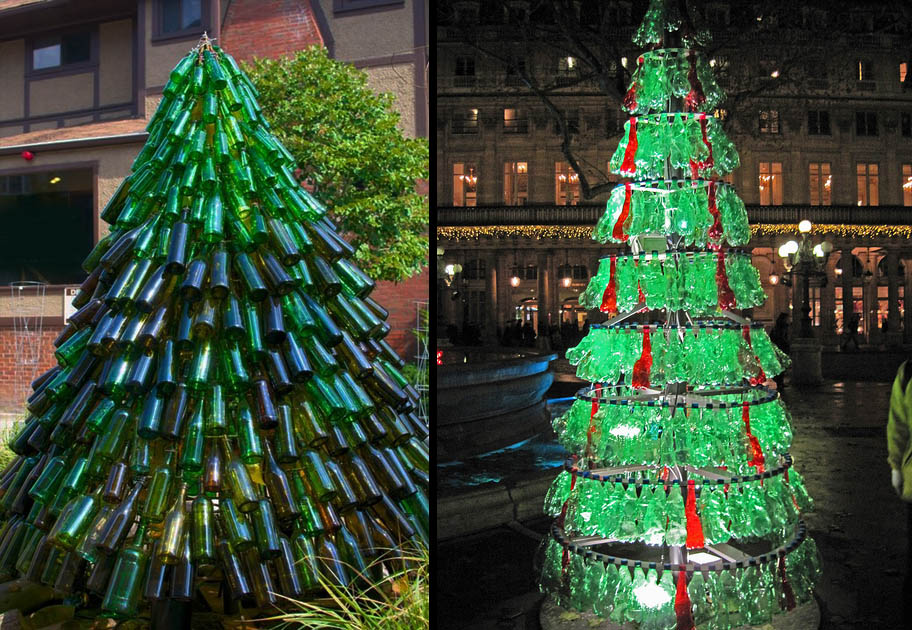 Less is more have a green christmas design and the city Christmas tree ideas using recycled materials