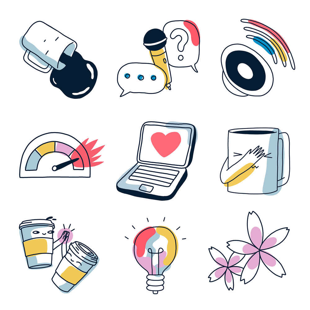 LinkedIn Sticker Set