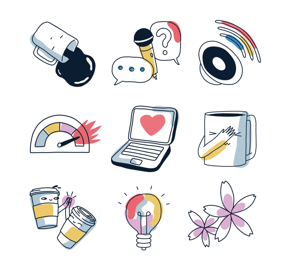 Client: LinkedIn  Sticker Set  Spring 2018
