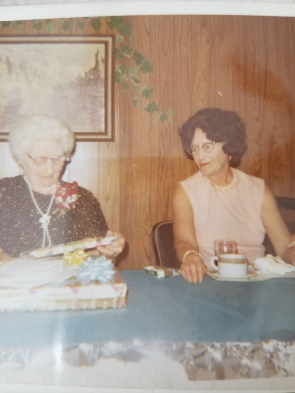 On the left is my great, great grandmother Augusta with her daughter, my great grandmother Ella.