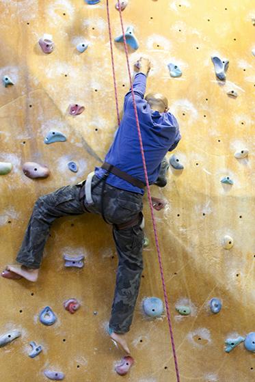Senior Rock Wall climbing at PCYC Erindale Centre
