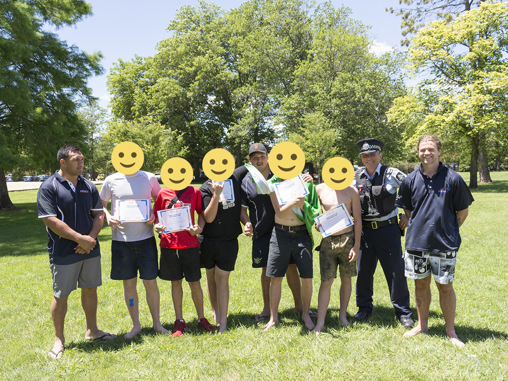 - Many thanks to ACT Policing S/Sgt Harry Hains and the Community Safety Team for participating in two Adventure Program recognition days this week. Positive police engagement is an important part of building positive futures, and we look forward to it continuing in 2018!