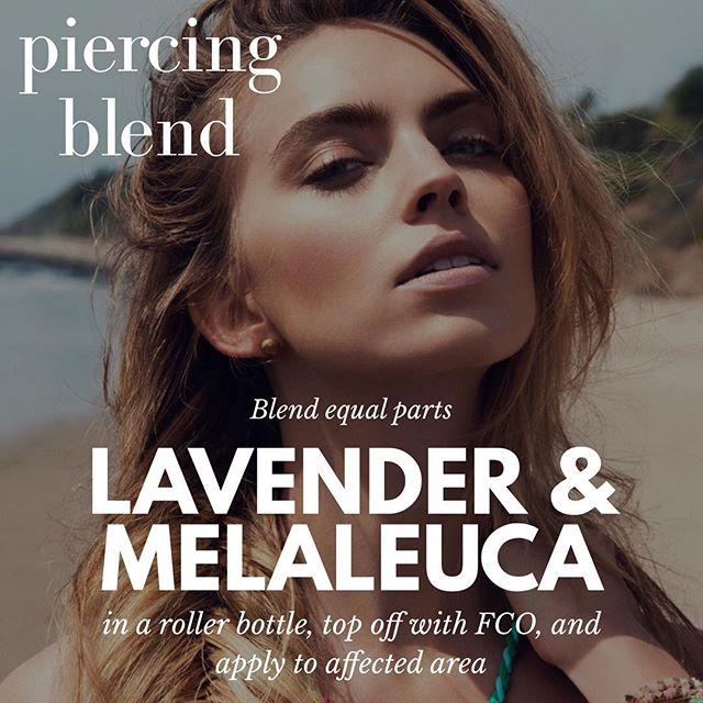 Irritated piercings? Try this soothing blend of essential oils to calm the affected piercing! Roll the blend onto your clean finger or a q-tip to apply.