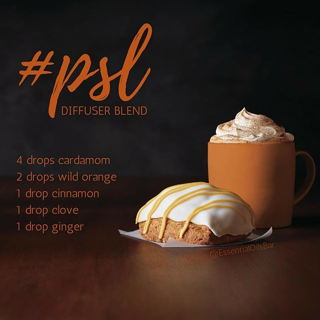 Pumpkin Spice Latte Diffuser Blend.  Tag your friends who just can't get enough pumpkin spice! #psl #pumpkinspice