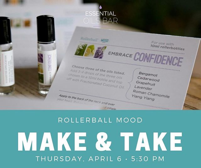 Mark your calendars for Thursday, April 6 - this is a class you won't want to miss out on! Come learn how to create essential oil blends to support your emotions and mood. This class will be limited to only 10 people, so reserve your spot today! Link in bio.