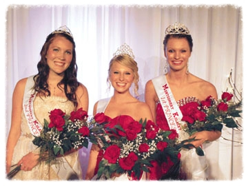 Kolacky Days Royalty 2013 are Queen Alexandra Trnka, center, First Princess and Miss Congeniality Kayla Trcka, right, and Second Princess Katelyn Stasney, left.