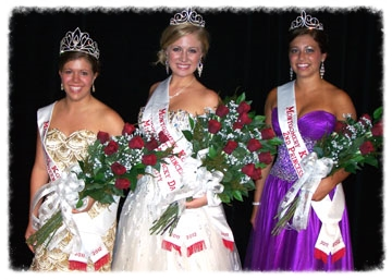Montgomery's ambassadors for 2011 are (from left) Queen Lauren Fellows, First Princess and Miss Congeniality Hannah Young, and Second Princess Meg McGuire