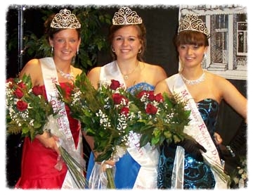 Montgomery's ambassadors for 2010 are (from left) Kolacky Queen Cassie Kubes, First Princess and Miss Congeniality Jenna Boyle, and Second Princess Nicole Berdan.