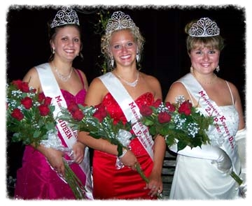 2008 Kolacky Royalty includes Queen and Miss Congeniality Maria Deutsch, First Princess Anne Flicek, and Second Princess Kelcey Ilg