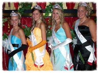 2007 Kolacky Royalty - Queen Jessica Barnett, First Princess Cassidy Skluzacek, Second Princess Rashelle Perry, and Miss Congeniality Jozlyn Franta
