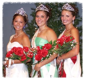 Montgomery's Kolacky Royalty 2006. From left: Queen Brittni Wiechmann, First Princess Elly Franek, and Second Princess and Miss Congeniality Brandilyn Reak.