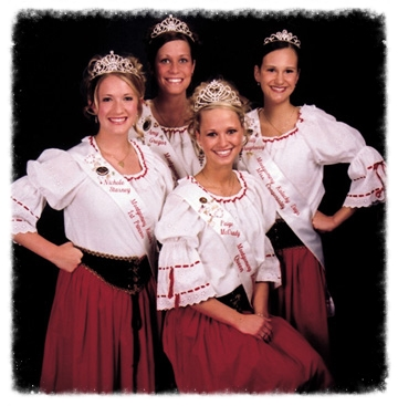 2004 Kolacky Days Royalty: Queen Paige McCrady, 1st Princess Nichole Stasney, 2nd Princess Amy Gregor, Miss Congeniality Kelly Shaughnessy