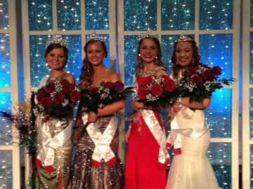 2015 Kolacky Days Royalty are Queen Megan Rabenberg, 1st Princess Ashlyn Barnett, 2nd Princess Annica Reddeman, & Miss Congeniality Kelsey Davis.