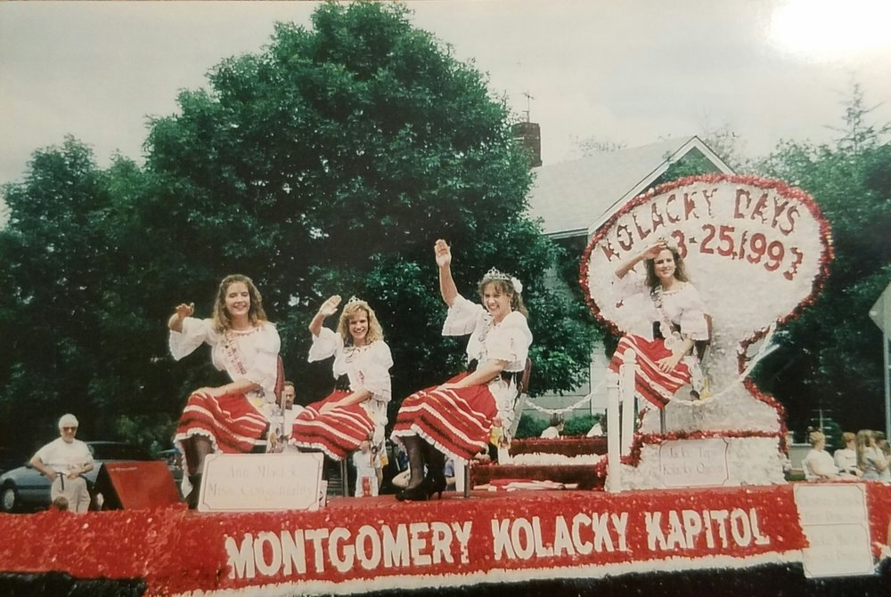 Montgomery's 1992 Kolacky Days Royalty From Left: Miss Congeniality Ann Mladek, 1st Princess Christina Jelinek, 2nd Princess Jackie Martin and Queen Jacqueline Tupy.