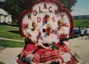 1997 Kolacky Days Royalty clockwise are Queen Anna Bachman, First Princess Talia Soukup, Second Princess Angie Petree, & Miss Congeniality Joy Segna