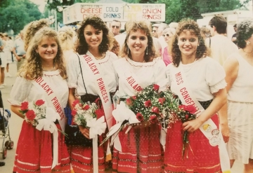 1989 Kolacky Days Royalty. From Left: 2nd Princess Deanna Viskocil, 1st Princess Kris Simon, Queen Michelle Simon, and Miss Congeniality Jenny Trcka