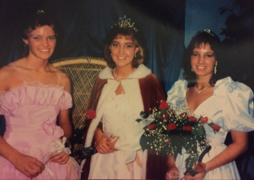 1986 Kolacky Days Royalty. From Left: Princess Jennifer Jindra, Queen Amy Sticha, and Princess Jill Holomek