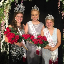 Montgomery's ambassadors for 2017 (from left) Queen Anna Franek, 1st Princess Becca Simon, & 2ns Princess and Miss Congeniality Amanda Way.