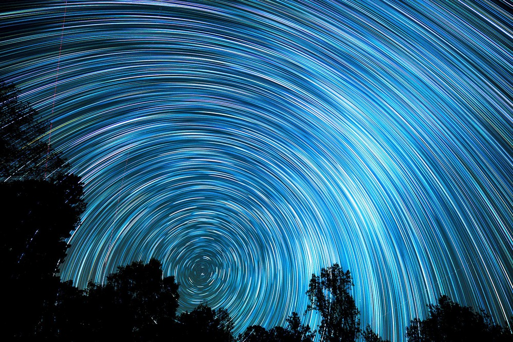Star Trails Lyrid Meteors 4/22/2015-see Night Sky Gallery