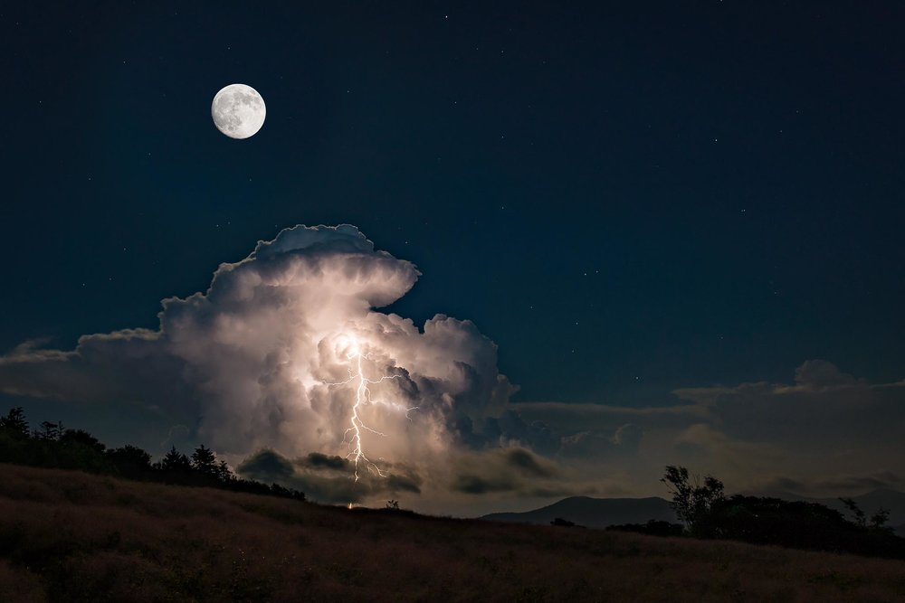 Roan Mountain Tennessee-See Night Sky-The Moon Gallery