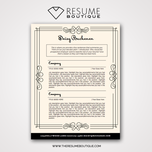 the great gatsby the resume boutique