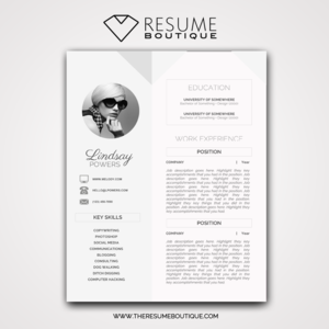 templates the resume boutique