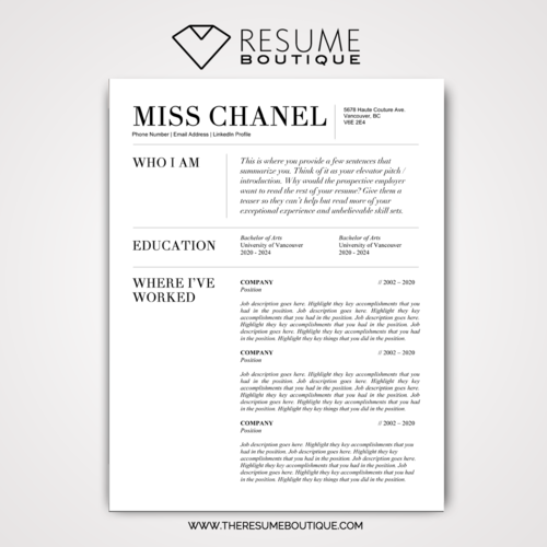 The Chanel — The Resume Boutique