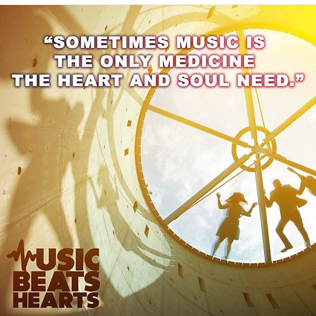 Music is the best medicine!!!!! Check out our website to learn more about #musicbeatshearts❣#spreadthebeats #giveback #music #smile