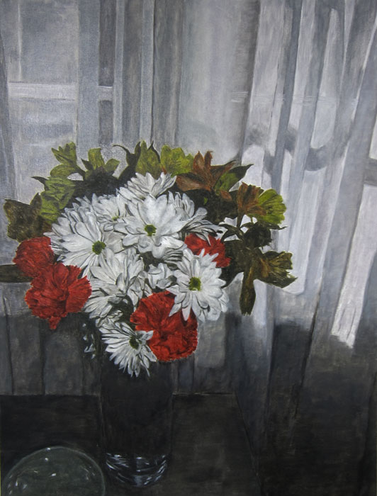 flower painting 1 2013 oil on canvas 36 x 27 in.