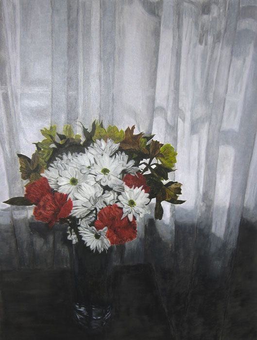 Flower Painting 2 2013 oil on canvas 36 x 27 in.