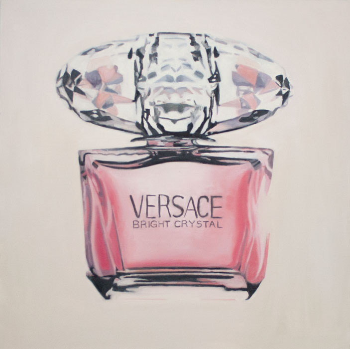 versace (for dash) 2012 oil on canvas 30 x 30 in.