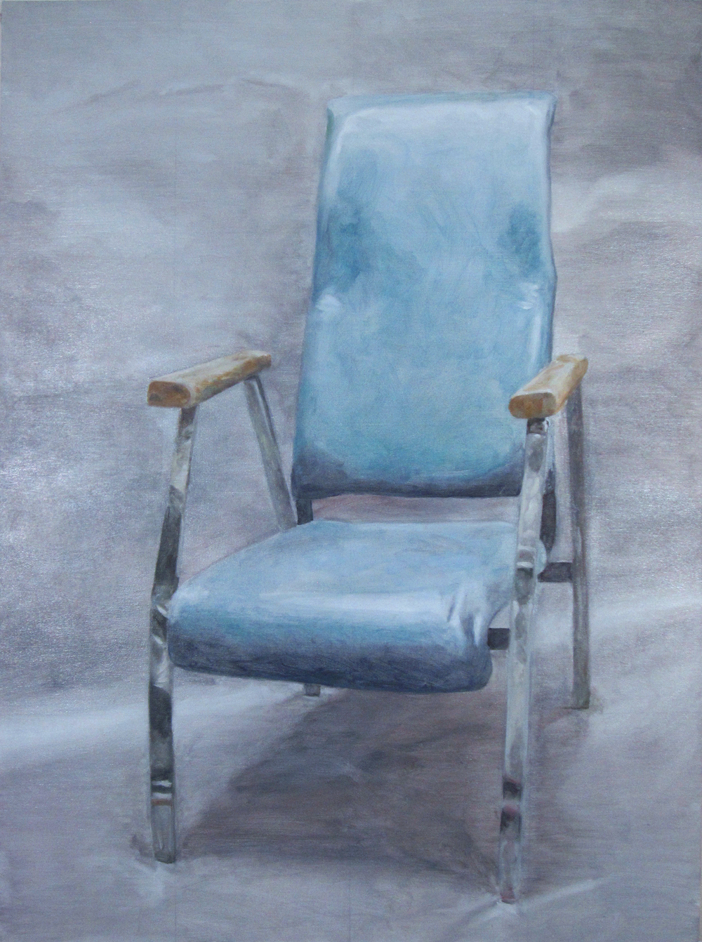 prop hospital chair no. 1 2014 oil on canvas  40 x 30 in.