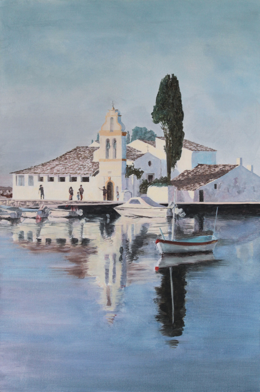 Sunday Painter, Corfu 2014 oil on canvas 36 x 24 in.