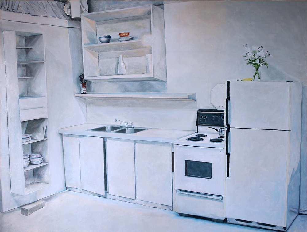 Kitchen 2016 oil on canvas 54 x 72 in.