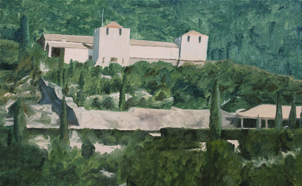 Rothschild Villa, Corfu 2017 oil on canvas 15 x 24 in.