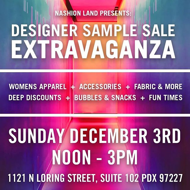 I'm going to be selling fabric by the bolt, and tons of samples at deep discounts. Come mix, mingle, and shop local.